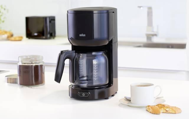 Braun Kaffeemaschine PurEase mit OptiBrewSystem.