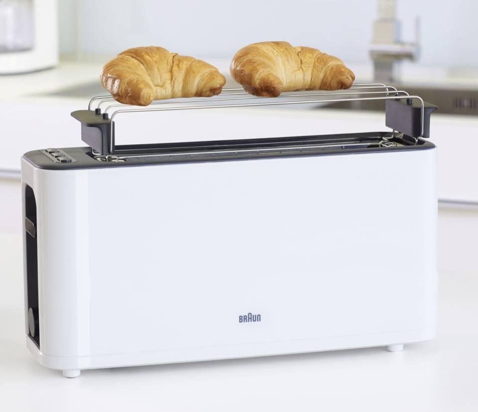 Braun Toaster PurEase mit 7 Röststufen.