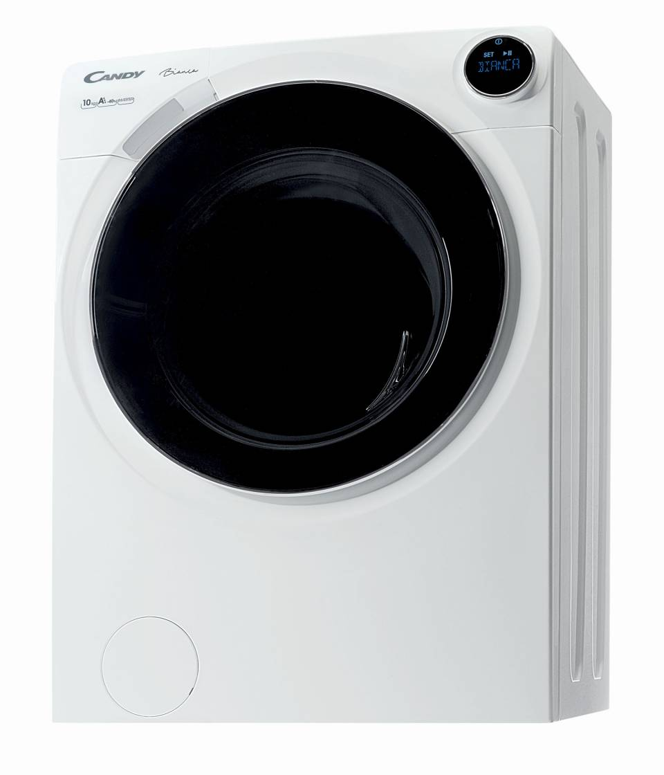 Candy Waschmaschine Bianca mit Smart-Ring-Benutzeroberfläche.