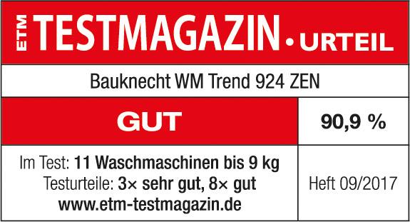 Testsiegel ETM Testmagazin WM Trend 924 ZEN