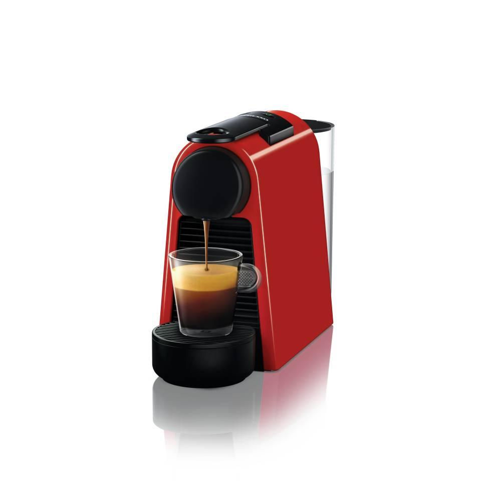 Die Nespresso Kaffeemaschine Essenza Mini in Rot