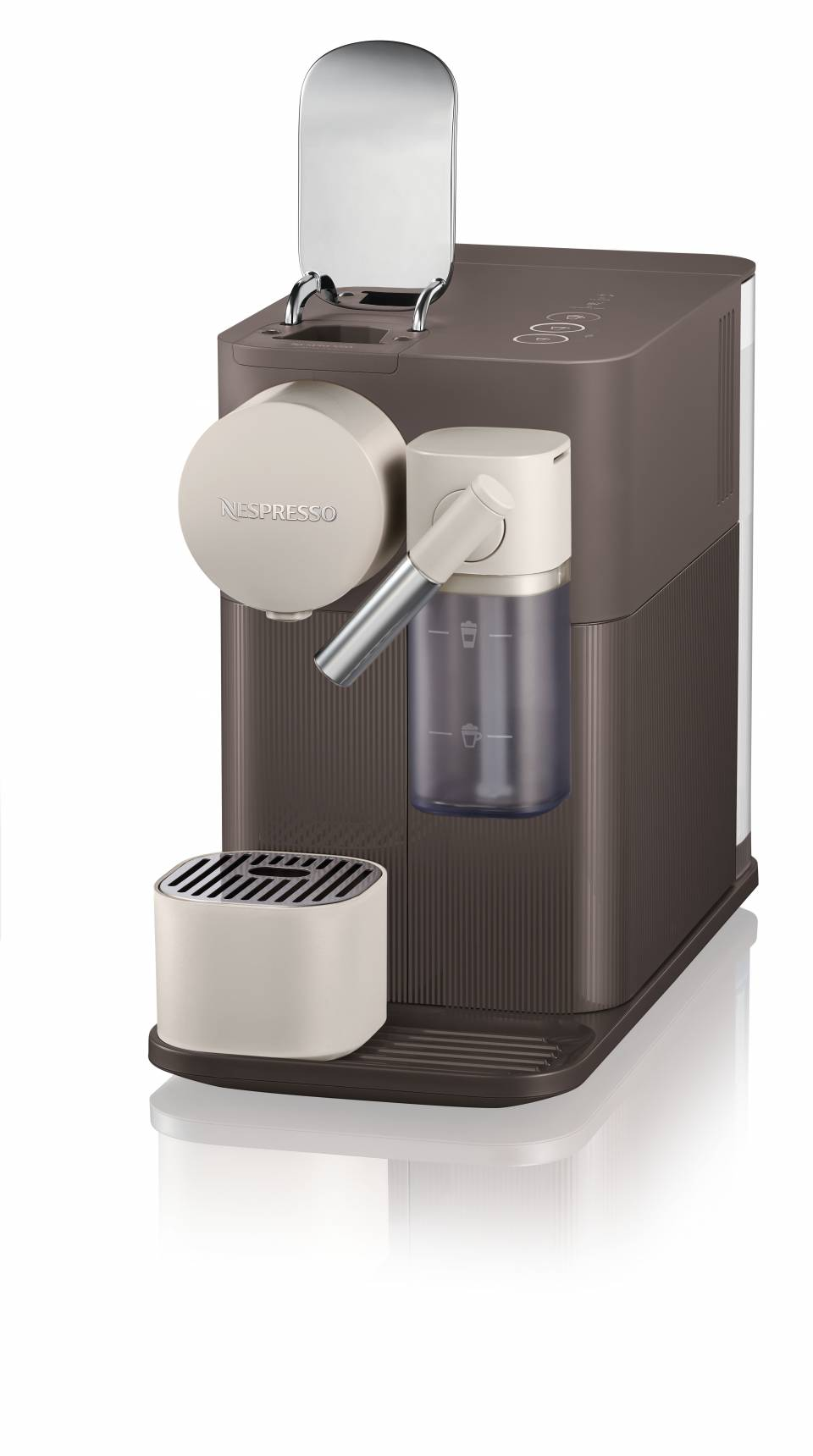 Die Nespresso Kaffeemaschine Lattissima One in Braun