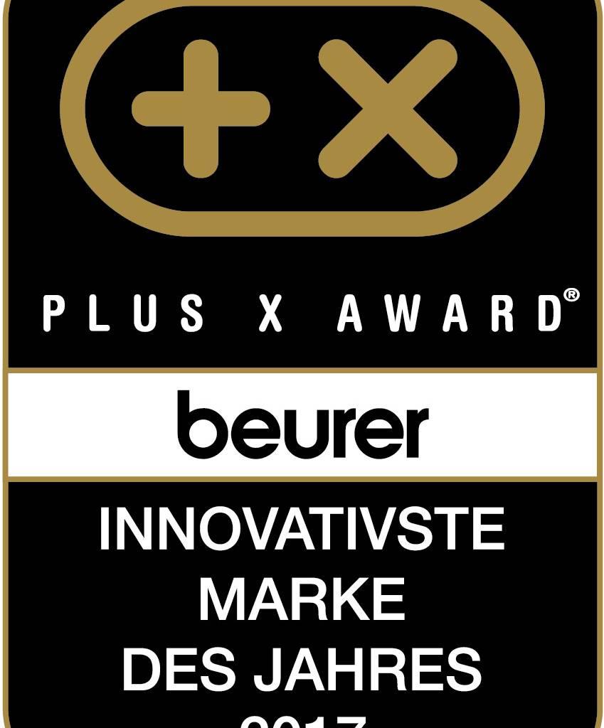 Plus X Award Beurer Innovativste Marke des Jahres 2017