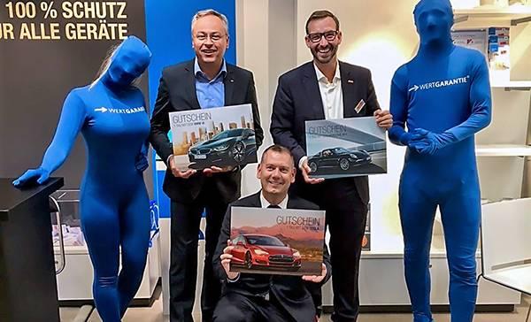 Sorgten für mächtig Power (v.l.): Lutz Burneleit, Thilo Dröge (GF Wertgarantie) und Martin Wolf.