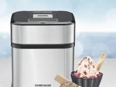 Rommelsbacher Eismaschine IM 12 für cremiges Eis, Frozen Yogurt, Sorbet, Slush.