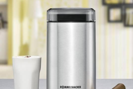 Rommelsbacher Kaffeemühle EKM 100 mt 2-flügeligem Edelstahlmesser.