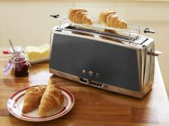 Russell Hobbs Langschlitz-Toaster Luna Moonlight Grey 23251-56 mit Lift and Look-Funktion.