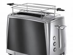 Russell Hobbs Toaster Luna Moonlight Grey 23221-56 mit 2 Toastschlitzen.