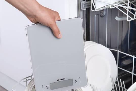 Soehnle Küchenwaage Page Aqua Proof geeignet für die Reinigung in der Waschmaschine.