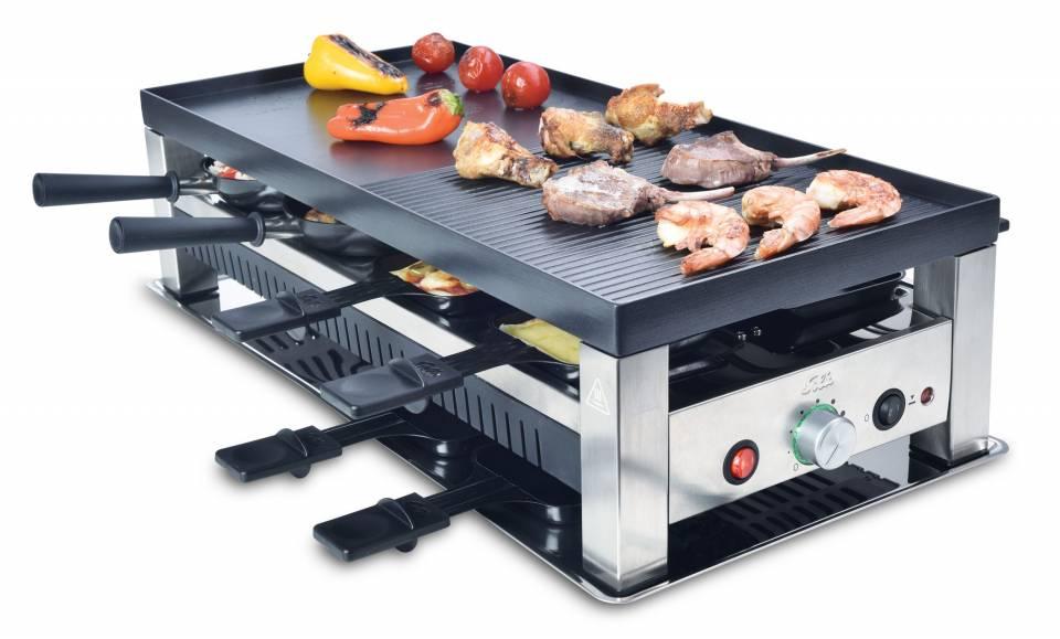 Solis 5in1 Table Grill mit Mini-Wok.