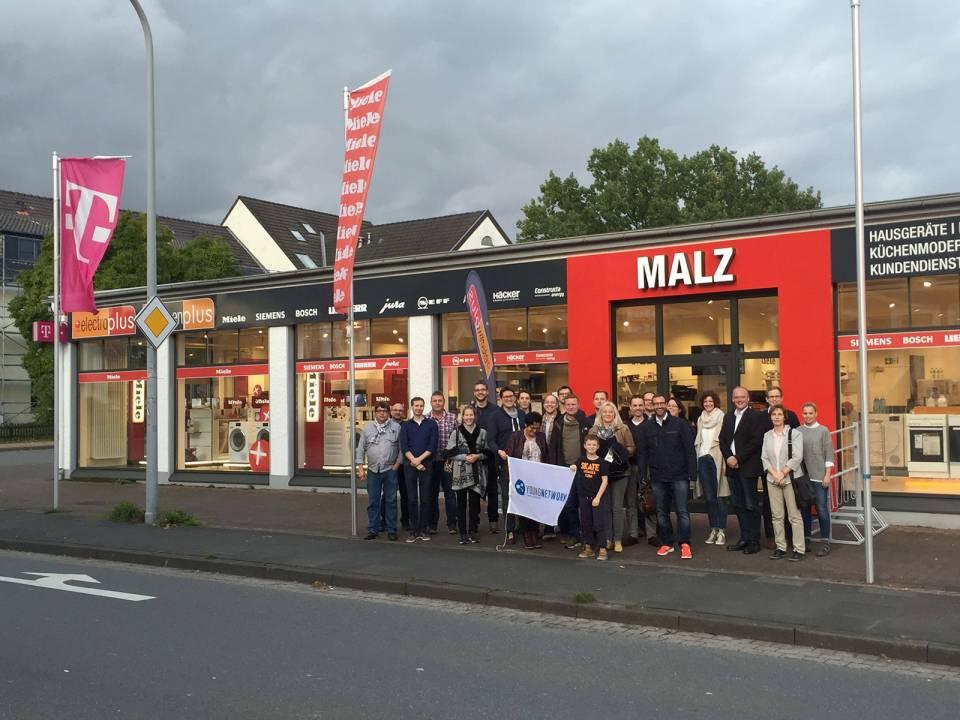 Ein Muss für die jungen Netzwerker: In Ostwestfalen steht der Name Malz für große Kompetenz in Sachen Elektro.