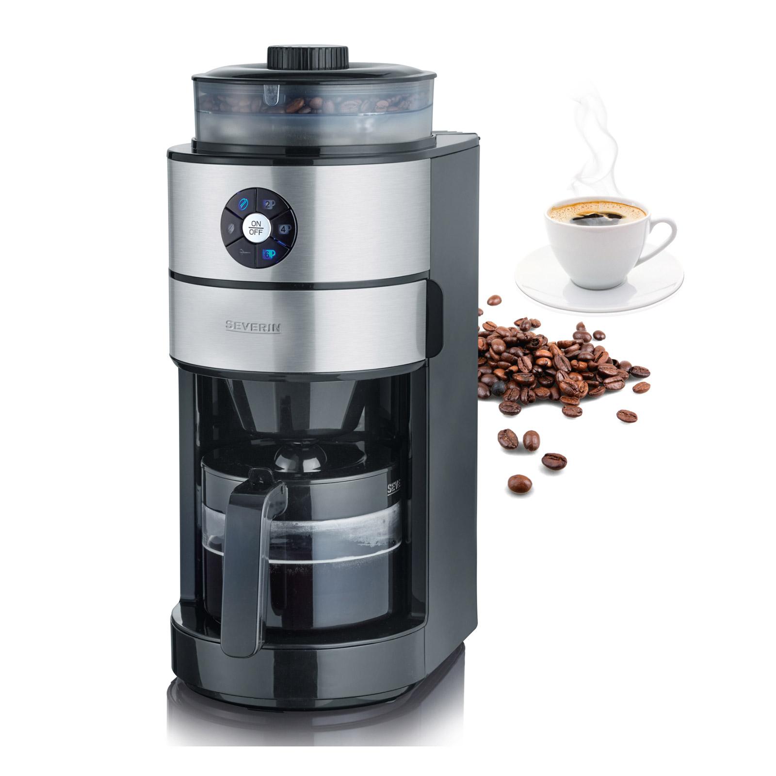 Ideal für kleine Küchen: kompakte Filterkaffeemaschine mit Mahlwerk KA 4811.