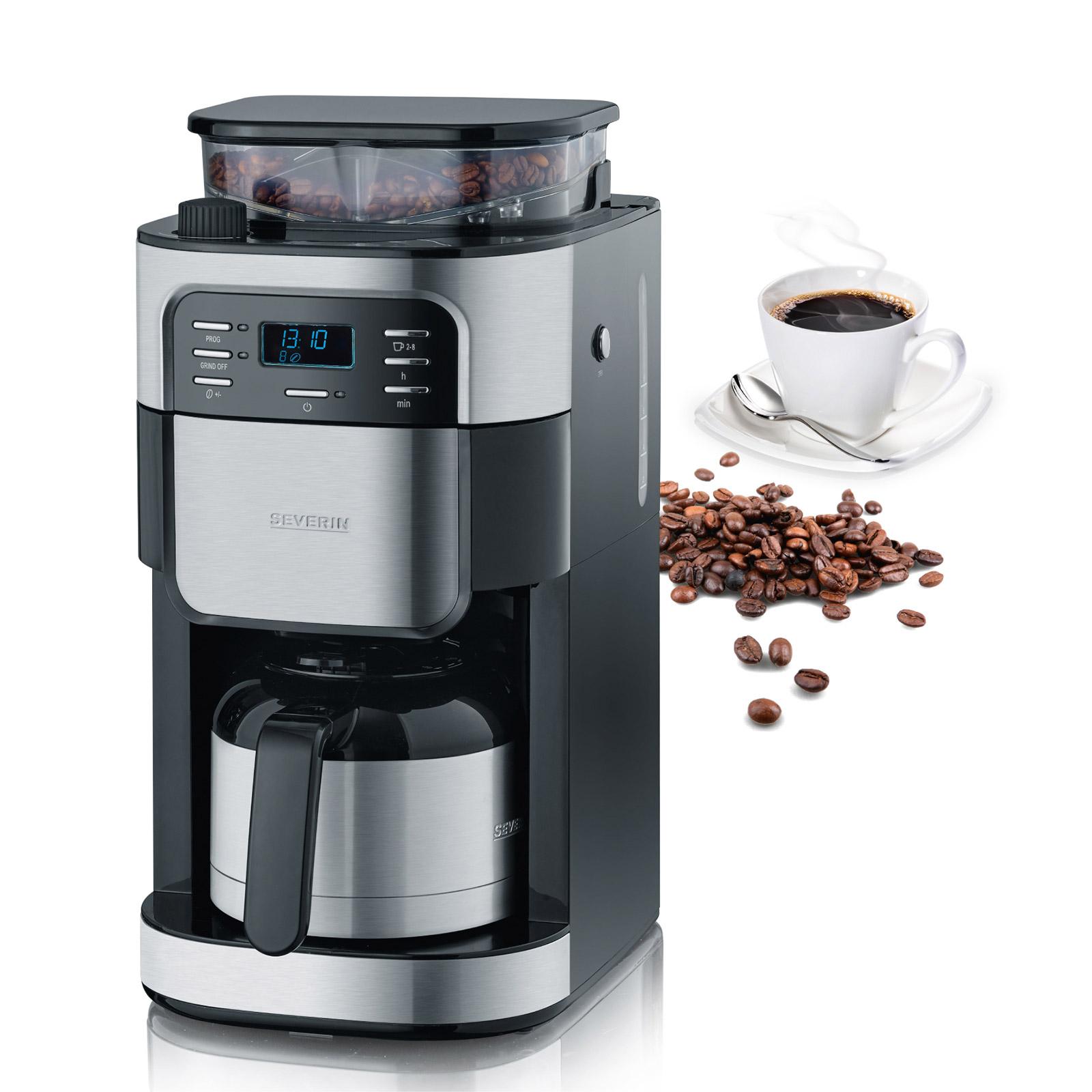 Genuss garantiert: Filterkaffeemaschine mit Mahlwerk KA 4812 mit Thermokanne.