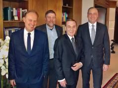 Das neue, alte BVDM-Präsidium (v.l.): Oliver Höner, Markus Meyer, Hans Strothoff und Andreas Eisenkrätzer.