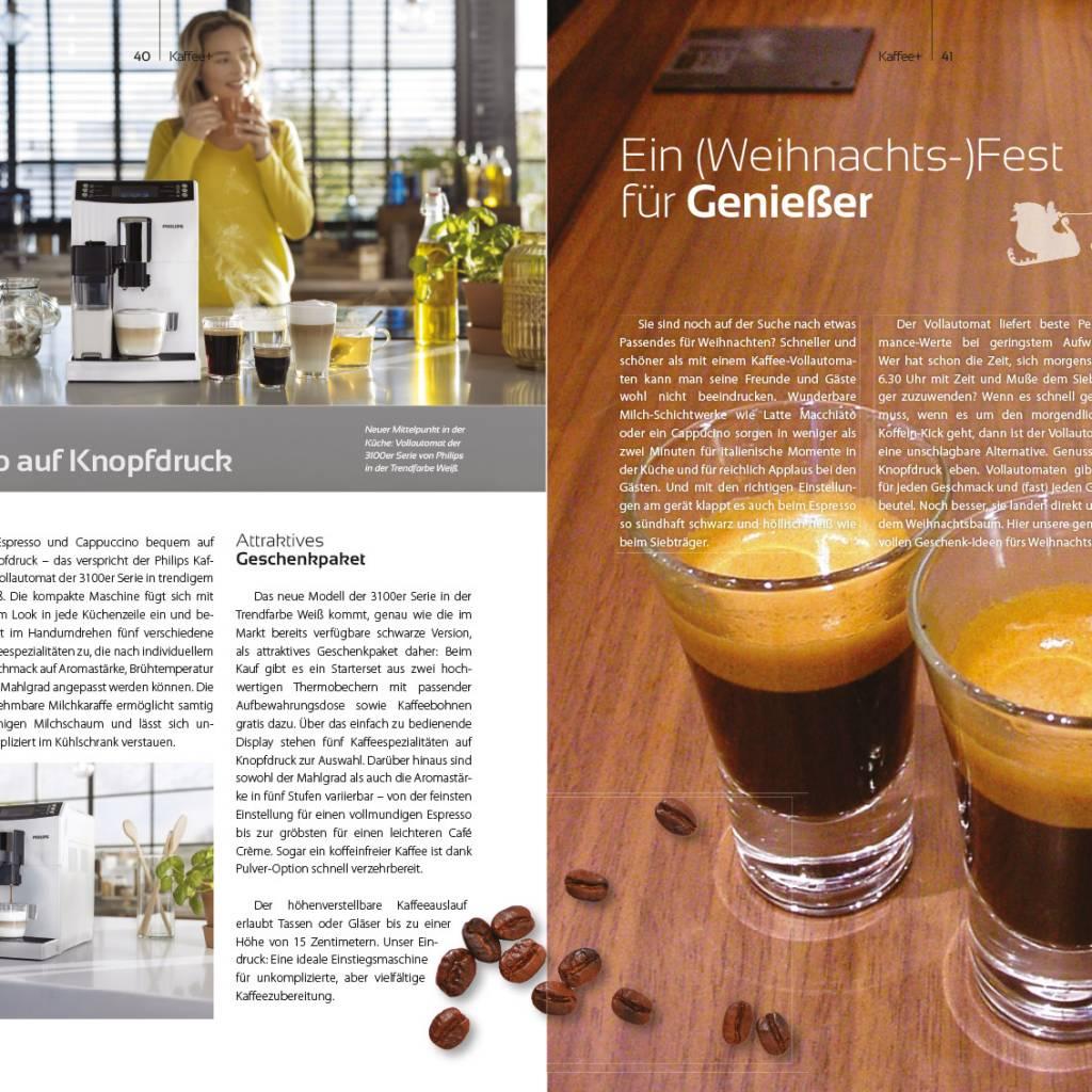Kaffeemagazin Kaffee+ Doppelseite