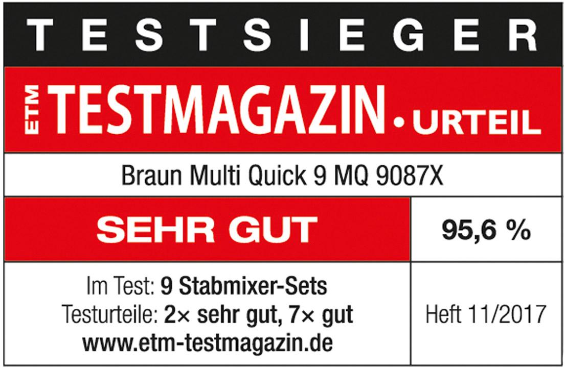 Braun Testsiegel Multiquick 9