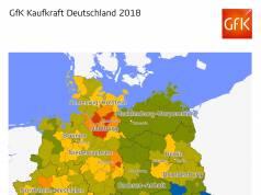 GfK Kaufkraft in Deutschland 2018