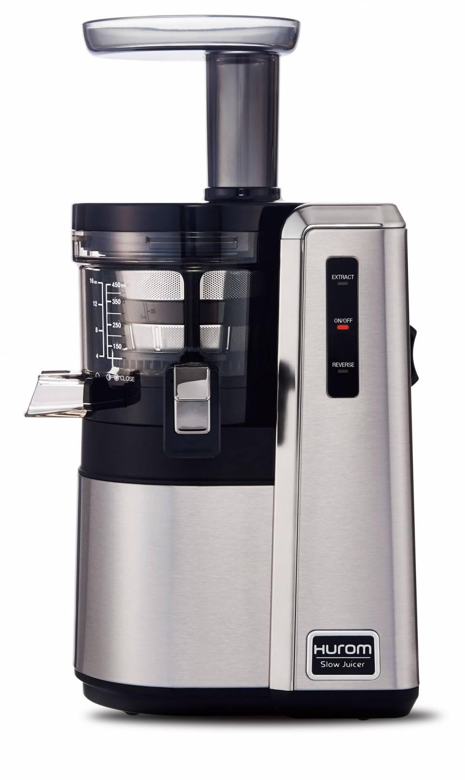 Hurom Slow Juicer HZ ist Entsafter und Zitruspresse in einem Gerät.