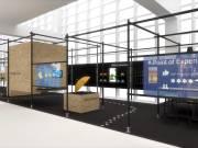 """Visualisierung der Check-In-Zone der Ambiente-Sonderpräsentation """"Point of Experience"""" im Foyer der Halle 4.1."""