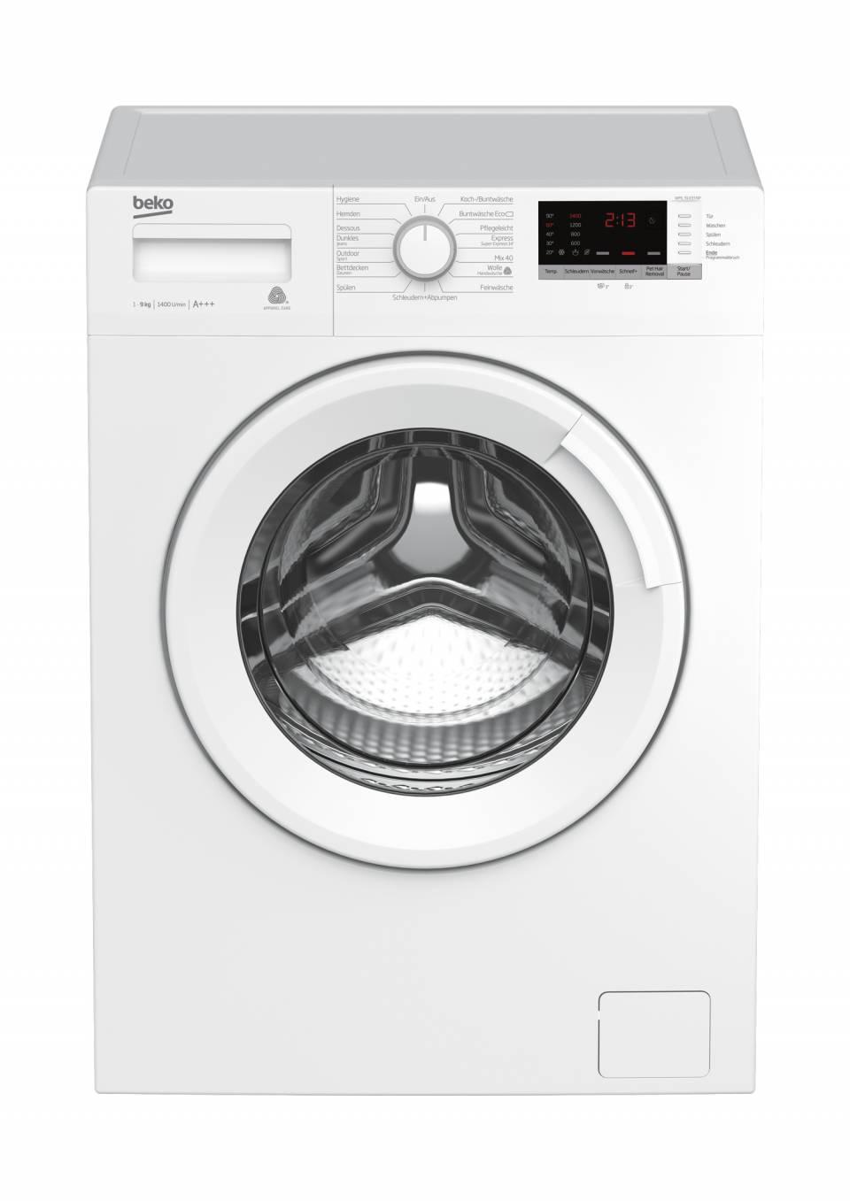 Beko Waschmaschine WML 91433 NP mit XL-Tür.