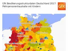 GfK Bevölkerungsstrukturdaten Deutschland 2017 Haushalte mit Kindern