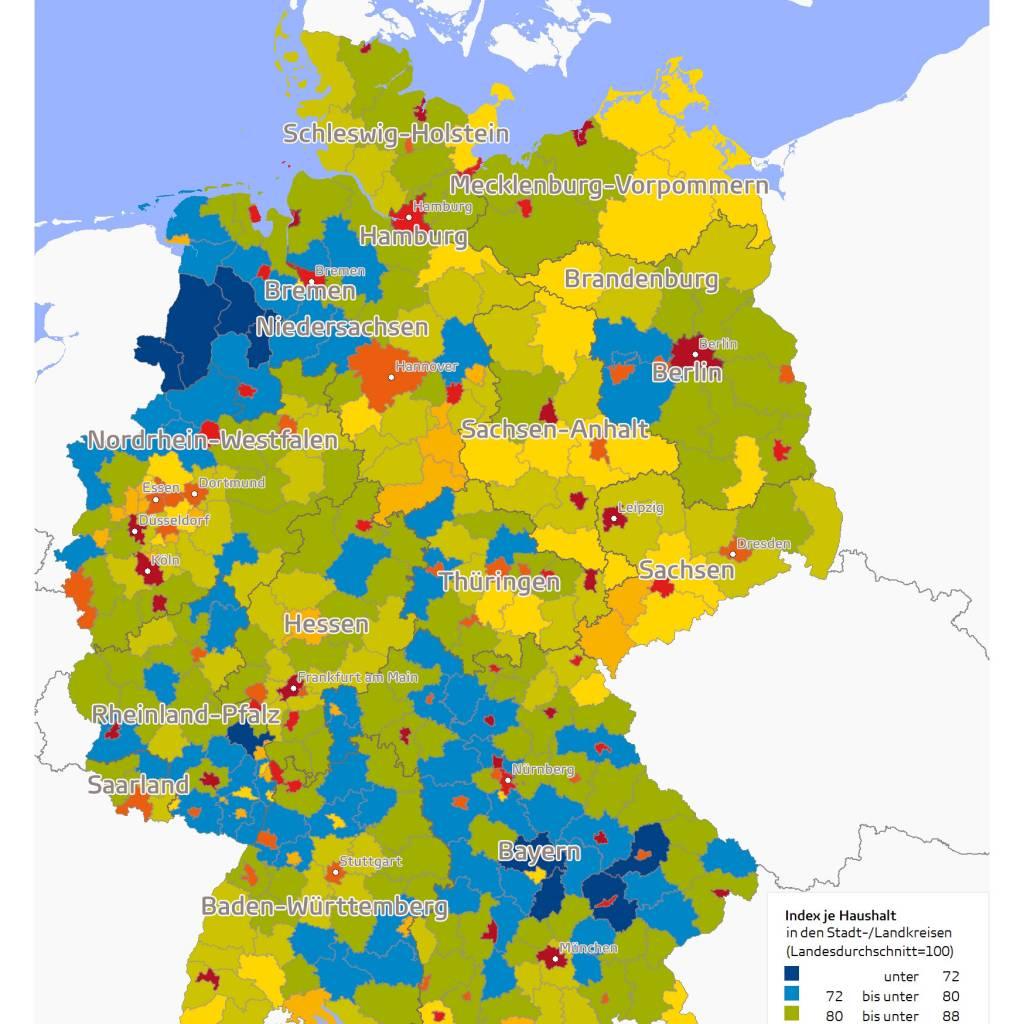 GfK Bevölkerungsstrukturdaten Deutschland 2017 Singlehaushalte