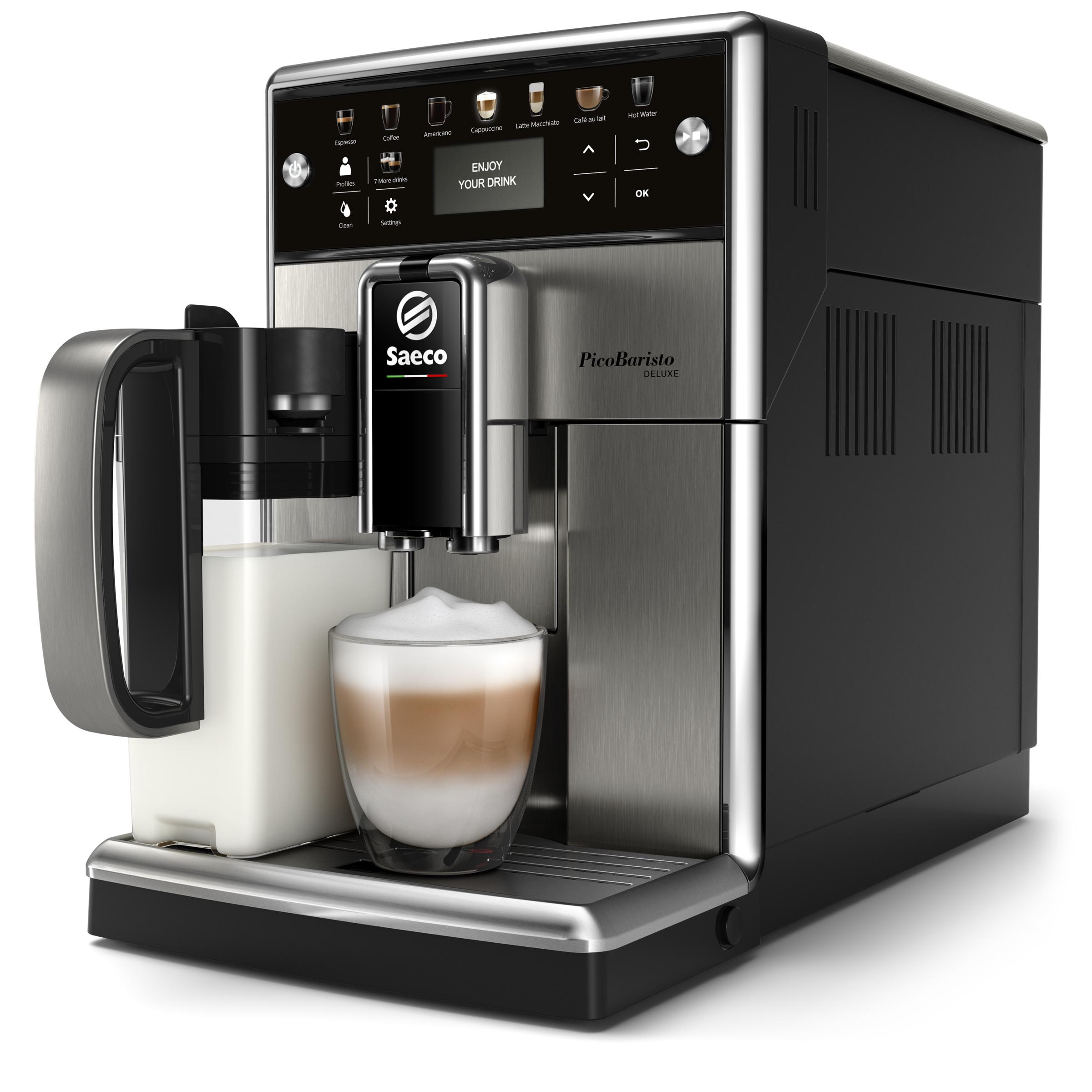 <h1>Saeco Kaffeevollautomat PicoBaristo Deluxe SM5573/10</h1><h3 style='font-size: 20px; margin: 0px 0px 15px 0px;'> -Mit intuitivem Touchdisplay und Keramik-Scheibenmahlwerk</h3>