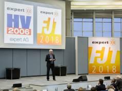 Volker Müller appellierte bei seinem letzten Auftritt als expert-Chef an die Hersteller, den Glauben an den stationären Handel nicht zu verlieren. Fotos: expert, Wagner