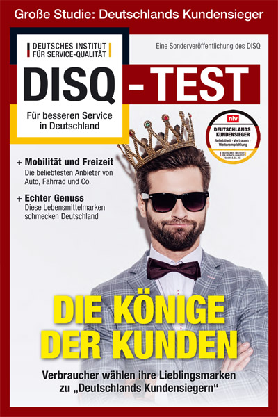 DISQ Test 2018 Supplement Deutschlands Kundensieger