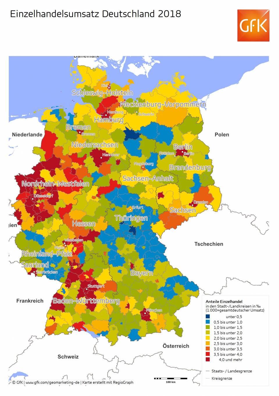 Einzelhandelsumsatz Deutschland 2018