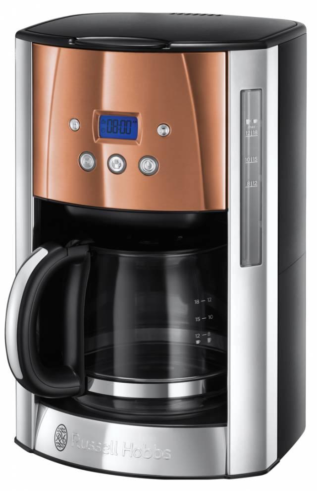 Russell Hobbs Kaffeemaschine Luna Copper Accents 24320-56 mit Brausekopf-Technologie.