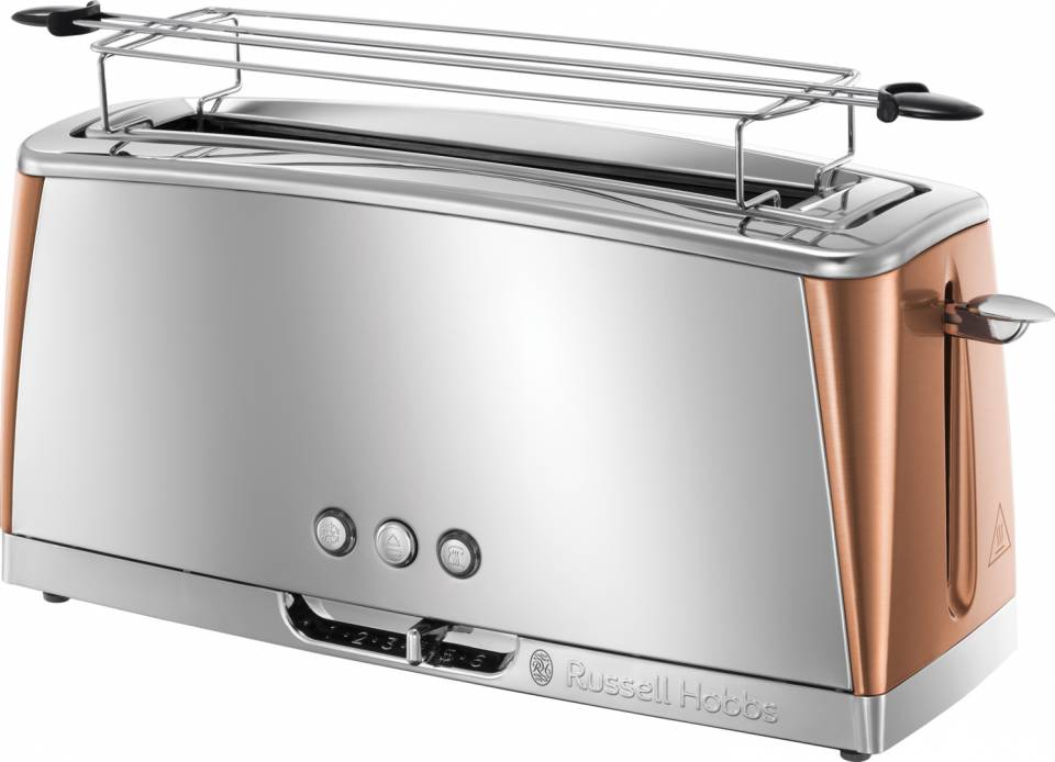 Russell Hobbs Langschlitz-Toaster Luna Copper Accents 24310-56 mit • Schnell-Toast-Technologie.
