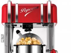 Unold Popcornmaker Retro mit Warmhaltefunktion.