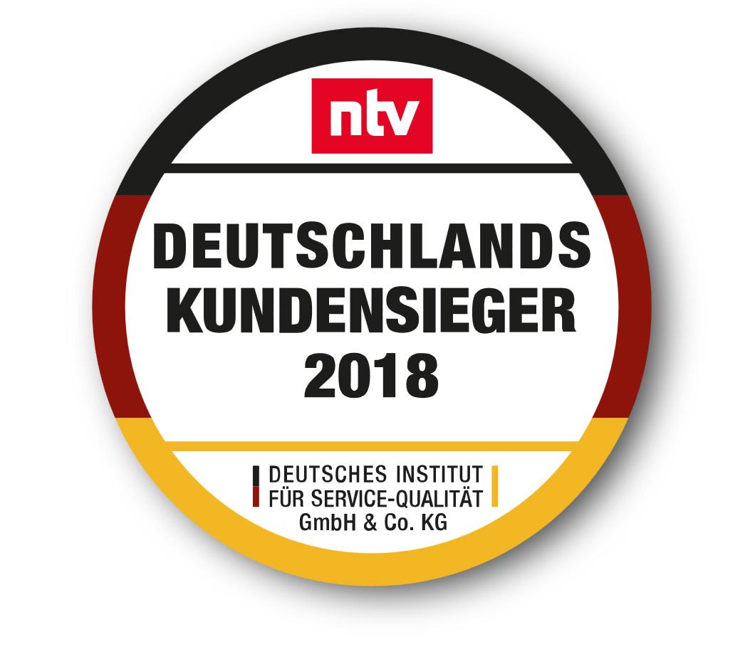 Logo Disq Kundensieger 2018 Deutschland