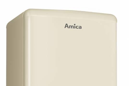 Amica Kühl-/Gefrierkombination KGCR 387 100 im Retro-Design.