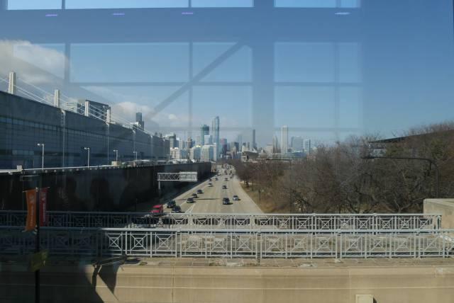 Blick auf die City von Chicago