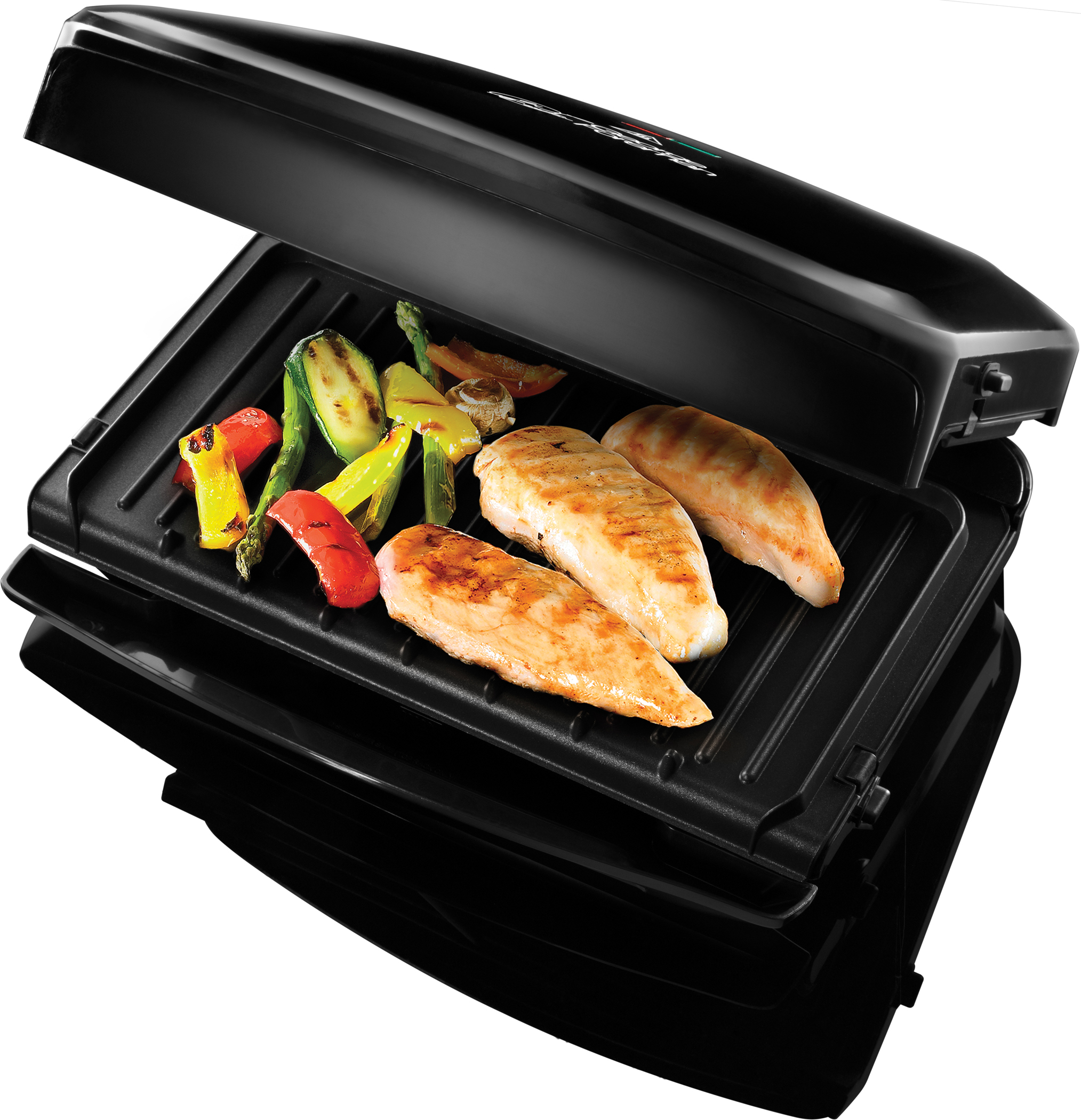 <h1>George Foremann Fitnessgrill Family</h1><h3 style='font-size: 20px; margin: 0px 0px 15px 0px;'> - Perfect Fit-Fettauffangschale, 32,5 cm x 18 cm Grillfläche</h3>