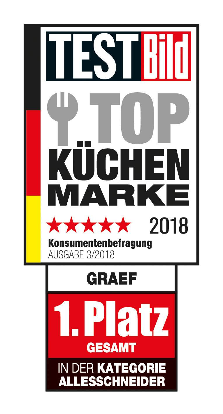 Graef Testbild Küchenmarke 2018 Urkunde