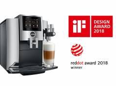 Auszeichnung mal zwei: Die S8 in Chrom von Jura gewinnt den iF Design Award und den Red Dot Award: Produkt Design 2018.