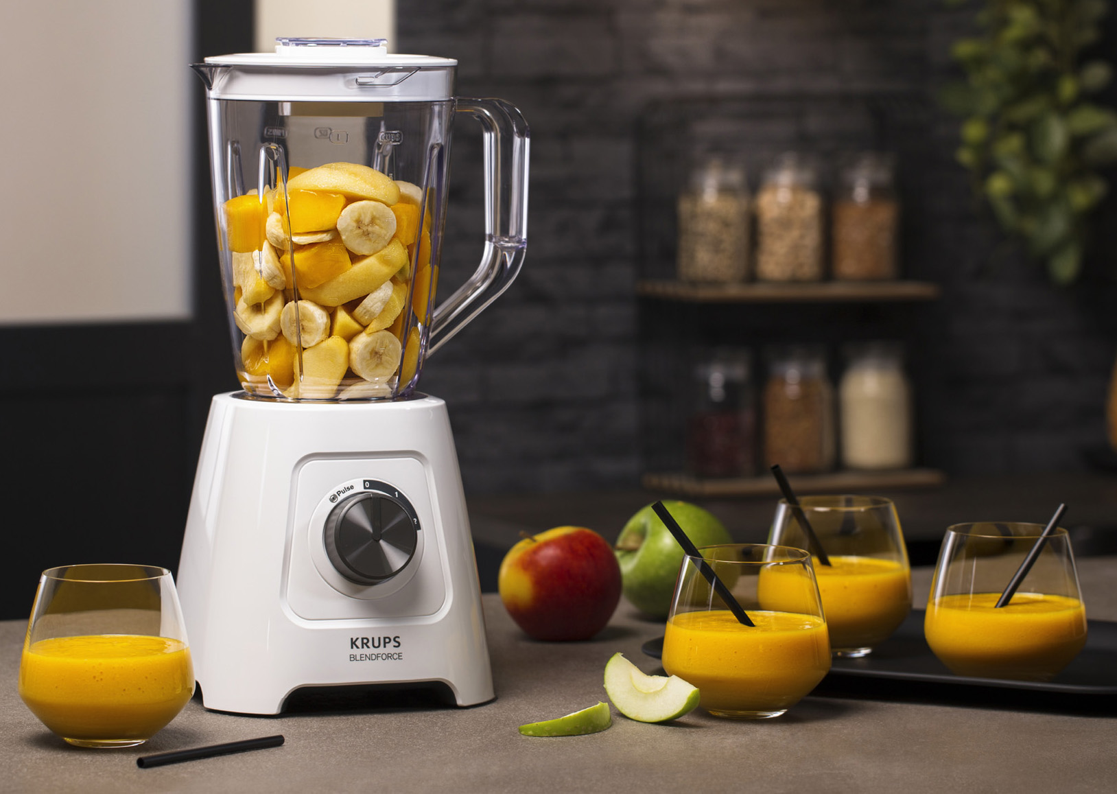 <h1>Krups Standmixer Blendforce</h1><h3 style='font-size: 20px; margin: 0px 0px 15px 0px;'> - Smart-Lock-System, Air Cooling</h3>
