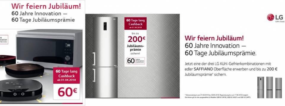 LG-Frühlingsaktion: Bis zu 200 EUR Cashback.