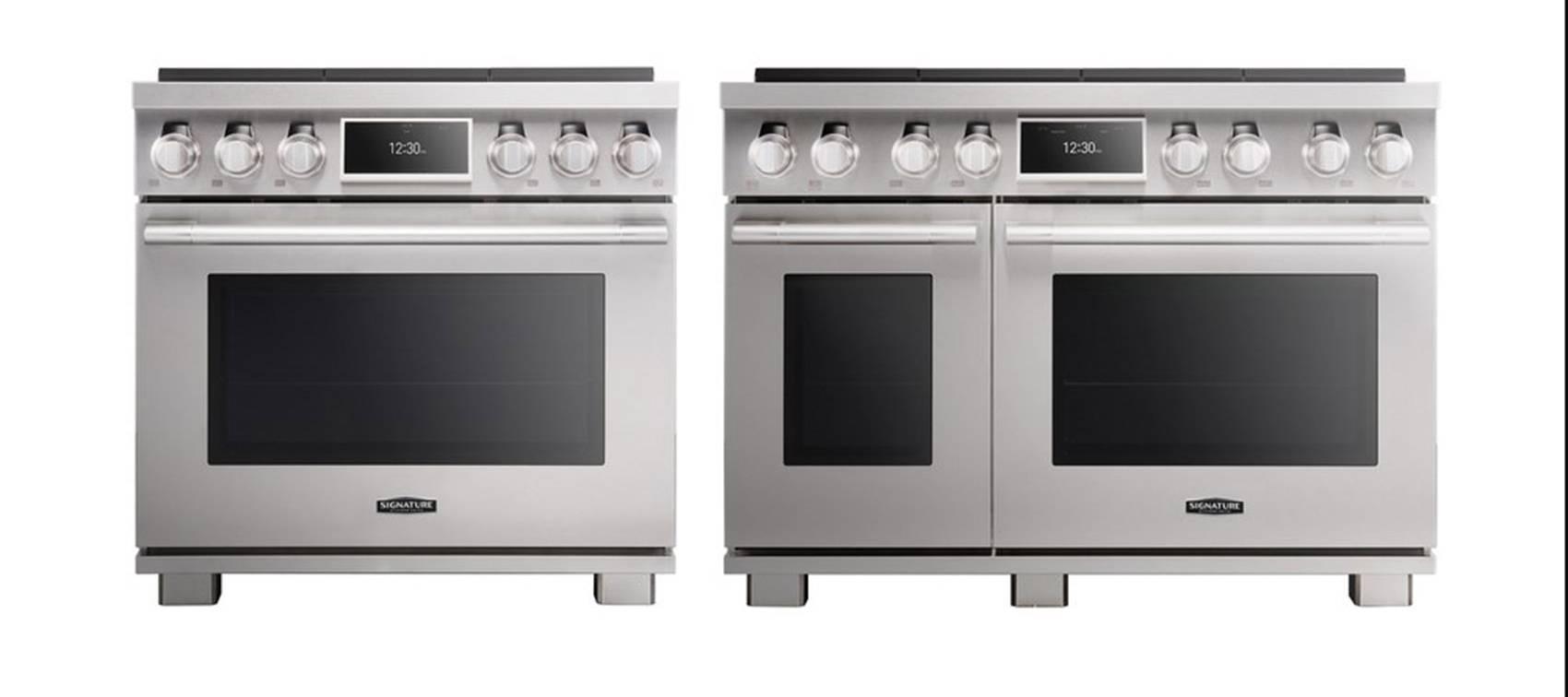 Kochen als zentraler Mittelpunkt des Familienlebens: Signature Kitchen Suite Pro Range Ofen.