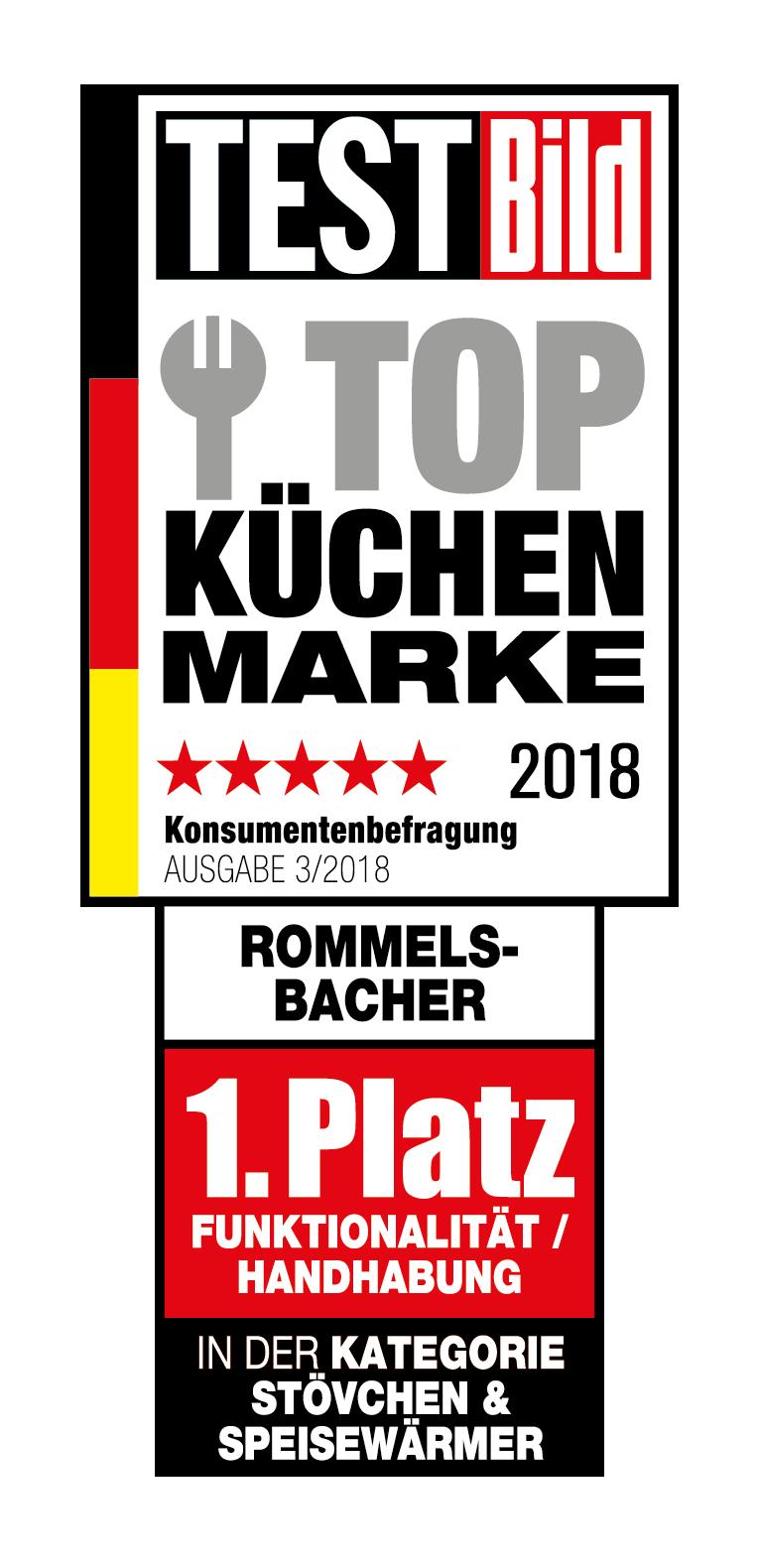 Rommelsbacher Testbild Küchenmarke 2018 Urkunde