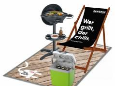 """Angrillen mit dem """"Stadtgriller"""" von Severin in Kooperation mit """"Heinz""""."""
