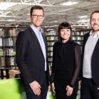 Stellen bei AO in Deutschland und in Europa (ohne England) die Führungsriege (v.l.): Patrick Völker als Retail Director, Julika Weidner-Karakoç im Bereich Human Resources und Alpay Güner als CEO AO Europe.