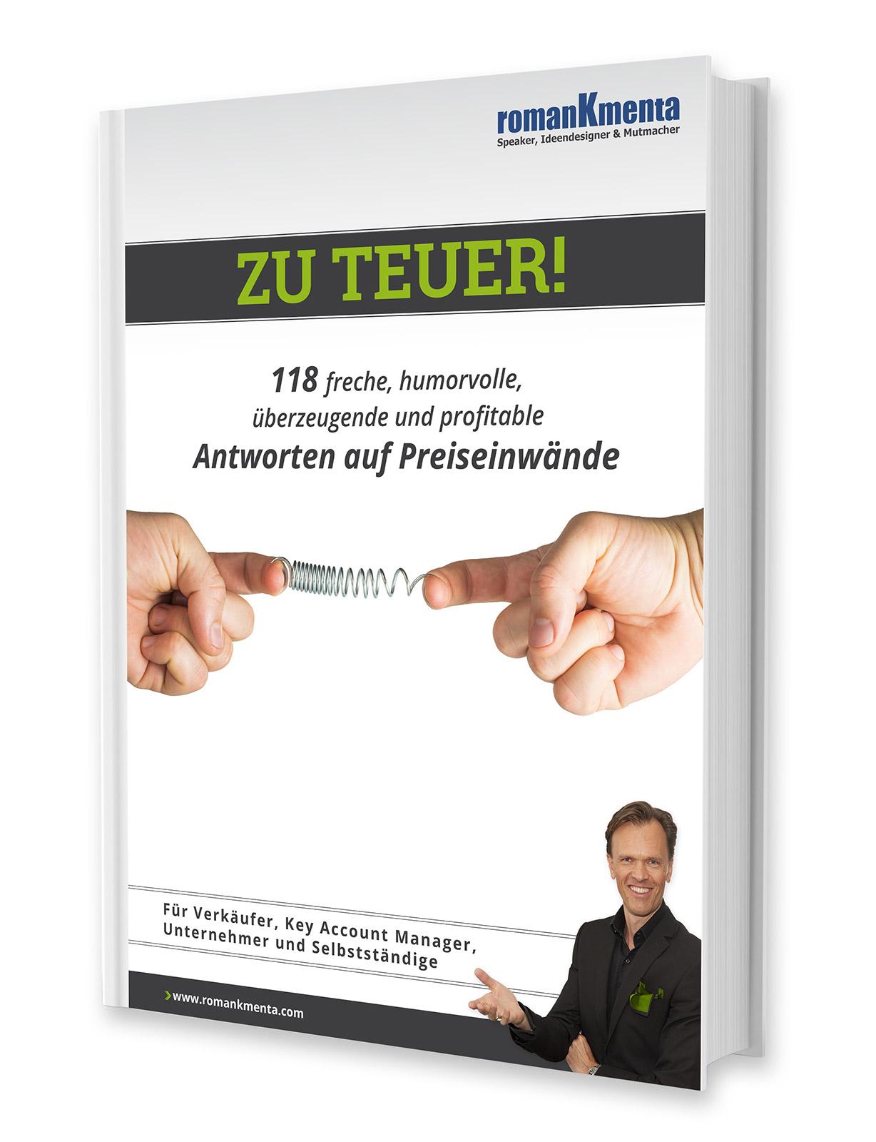 """E-Book """"Zu teuer!"""" von Roman Kmenta"""