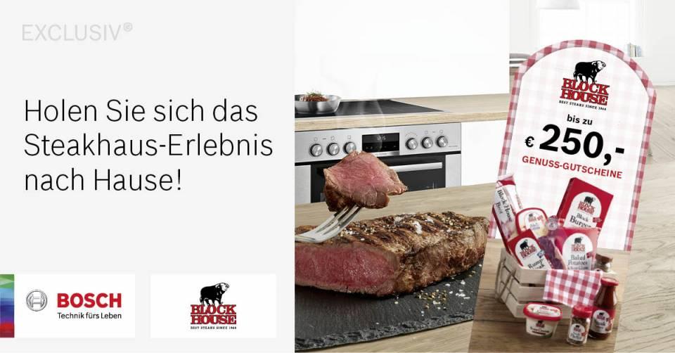 Genuss-Paket: Bosch spendiert Gutscheine für Block House.