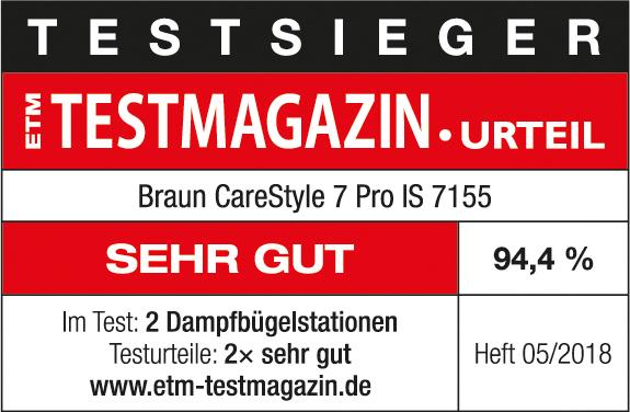 """Braun CareStyle 7 Pro IS 7155 erhält Testurteil """"Sehr gut"""""""