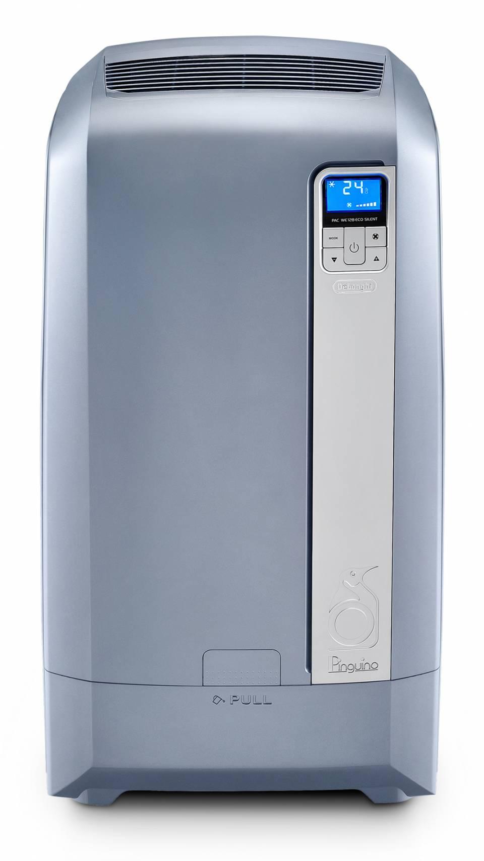 De'Longhi Klimagerät Pinguino PAC WE 128 Eco Silent mit separatem Wassertank im Gerätegehäuse.