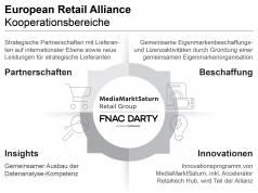In einer ersten Phase planen MediaMarktSaturn und Fnac Darty eine Kooperation in vier strategischen Bereichen.